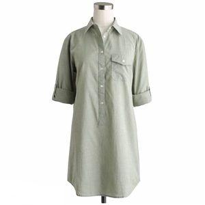 J. Crew Popover Tunic Green Long Sleeve XS Q910